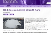 FLEX Store Completed at North Anna - Nuclear Engineering International