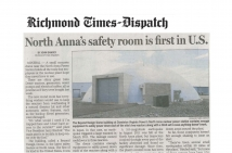 North Anna's safety room is first in U.S.