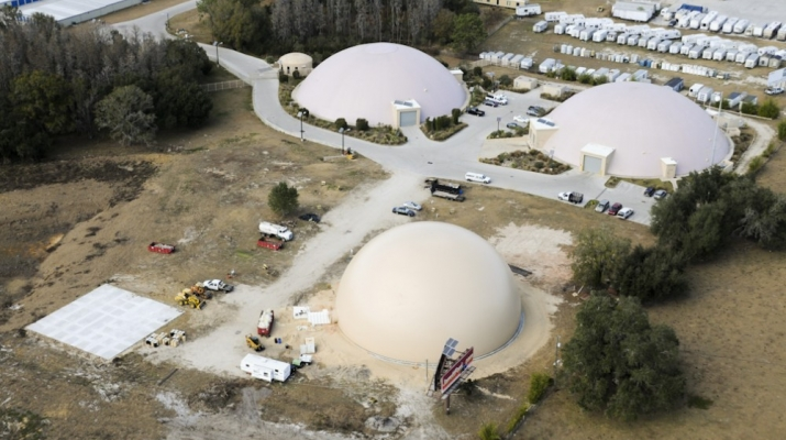 Certified Records Management Vital Media Vault Storage Dome Aerial Photo: Post Inflation