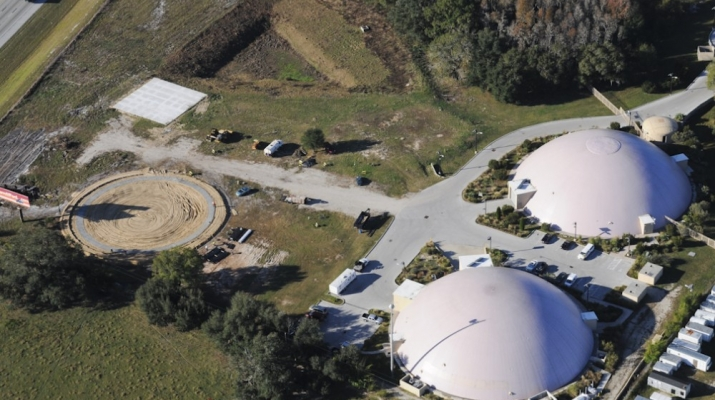 Certified Records Management Vital Media Vault Storage Dome Aerial Photo: Pre Inflation